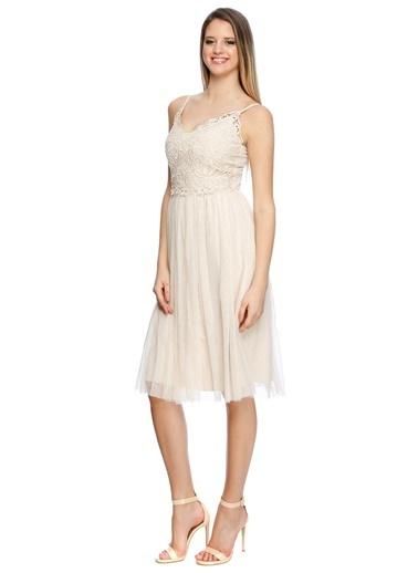 Lıttle Mıstress Elbise Bej